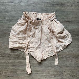 LF Tan Flowy Shorts